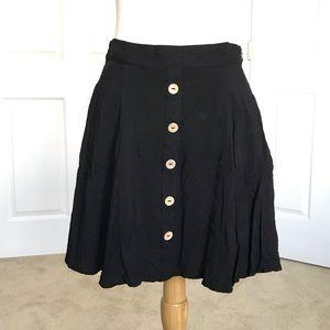 Modcloth Black Skater Skirt with Pockets